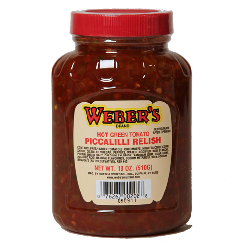 Weber's Hot Green Tomato Piccalilli Relish