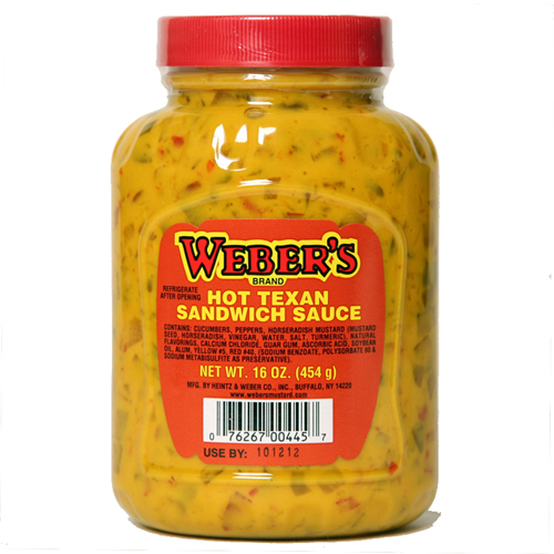Weber's Hot Texan Sandwich Sauce